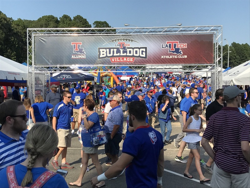 People tailgating at LA Tech stadium