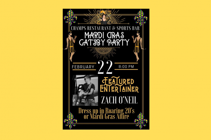 Mardi Gras Gatsby Party at Champs